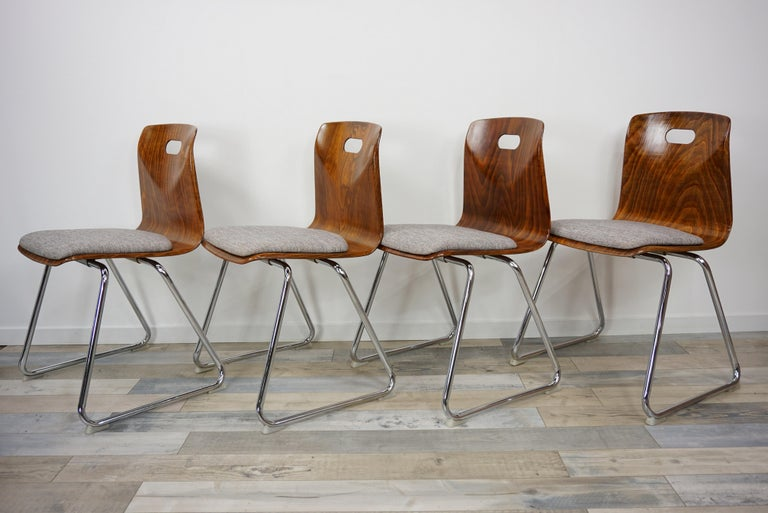 1960s Pagwood Pagholz Design Set of Six Chairs In Good Condition In Halluin, FR