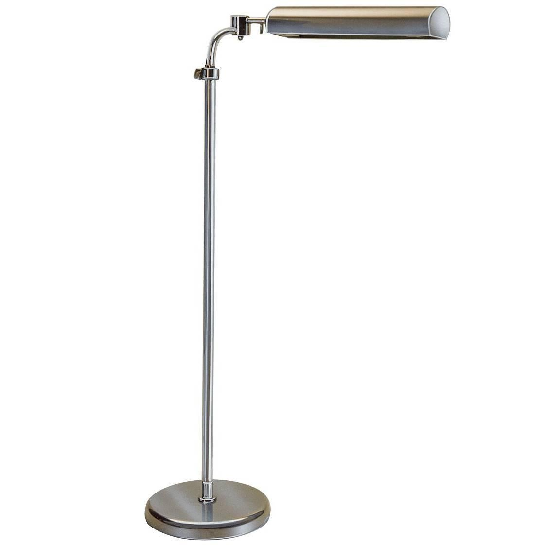 Deutsches Bauhaus Art Deco Sviveling Brass Floor Lamp Edition   Office 1  For Sale
