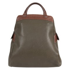 Deux De Delvaux Green Backpack