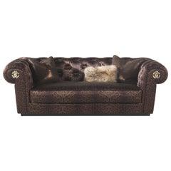 Deva 2-Seat Sofa in Fabric by Roberto Cavalli