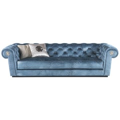 Deva 3-Seat Sofa in Fabric by Roberto Cavalli