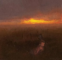 """Night Falls"" Oil Painting"