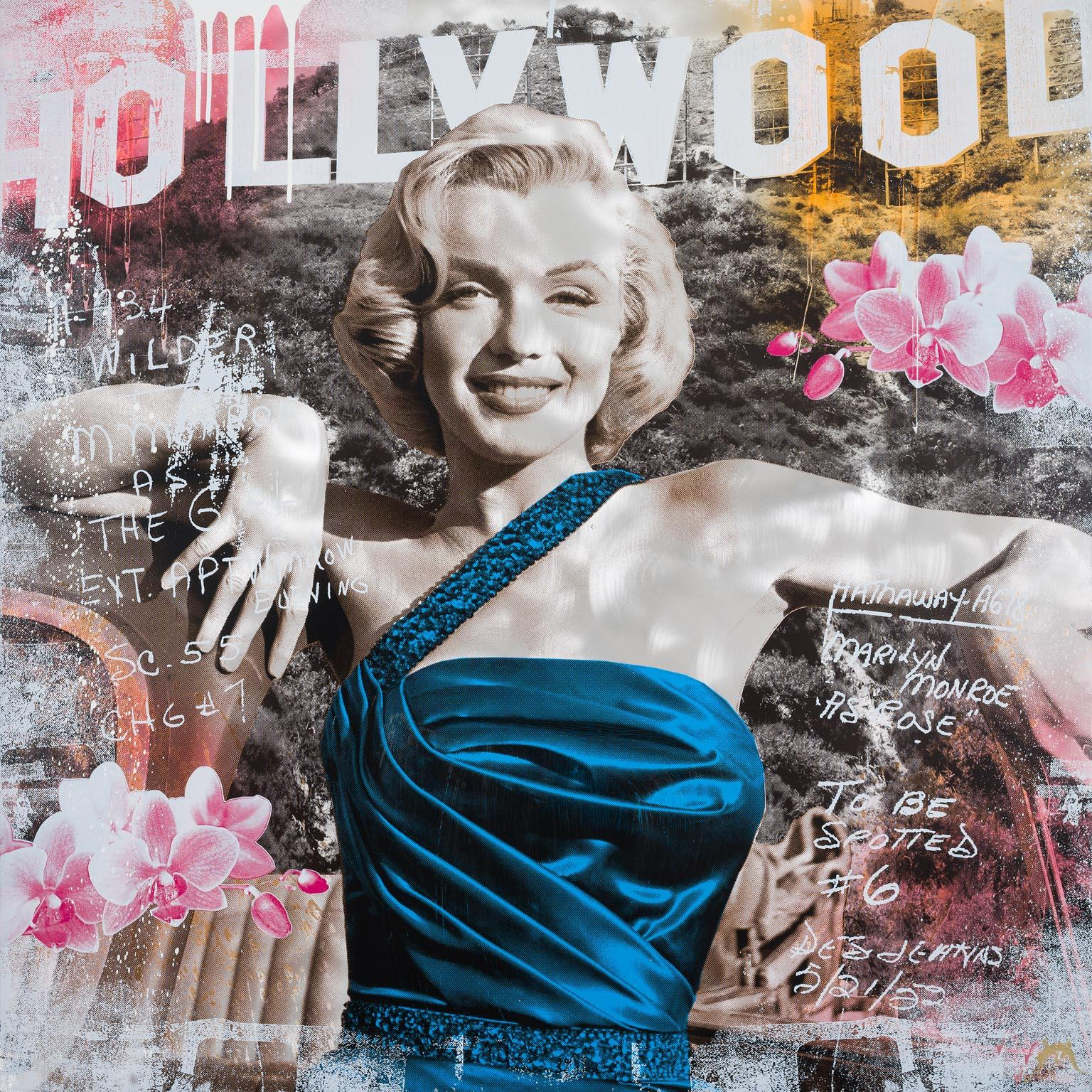 As Rose - contemporary pop art work of Hollywood icon Marilyn Monroe