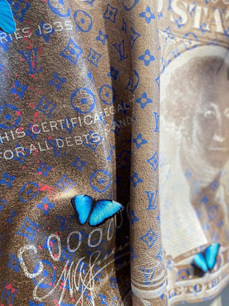 Dollar - contemporary mixed media original pop artwork of wrinkled dollar  1