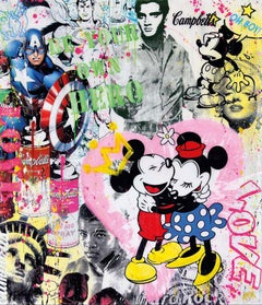Be your own hero - Mickey, Popart, Love, Contemporary, Elvis, Campbell, Marilyn