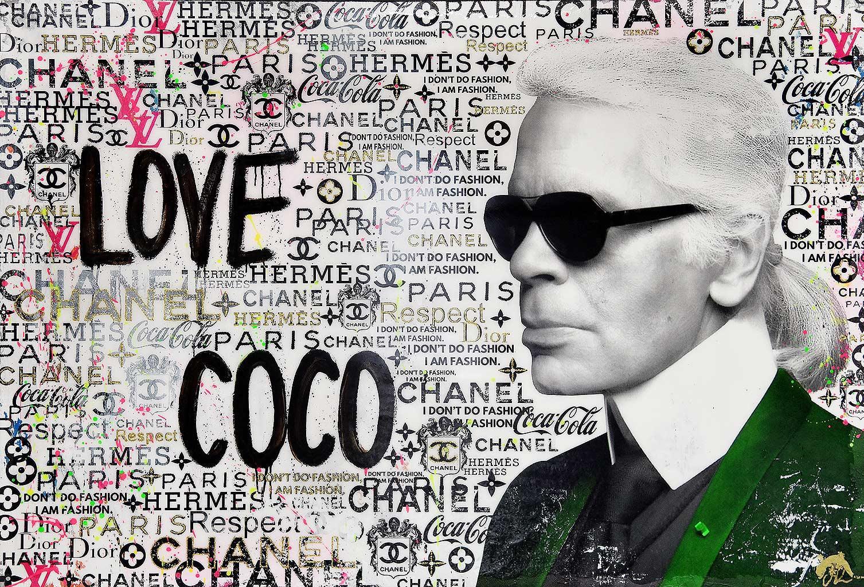 Love Coco - Popart, Karl Lagerfeld, Contemporary Art, Coco Chanel, Ltd. Edition