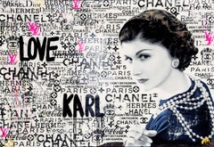 Love Karl - Popart, Karl Lagerfeld, Contemporary, Coco Chanel, Ltd. Edition,21st