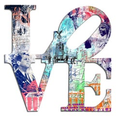Love-Berlin - Popart, airbrushed wall sculpture, paining, 21st, Contemporary Art