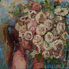 Girl With Flowers IV