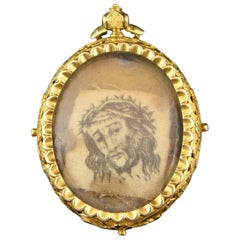 Devotional Pendant, Gold, Possibly, 18th Century