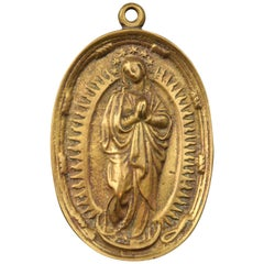 Devotional Plaque, Immaculate Bronze, 19th Century