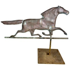 Dexter Copper Weather Vane on Steel Base