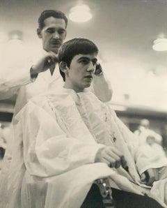 George Harrison at the Barber
