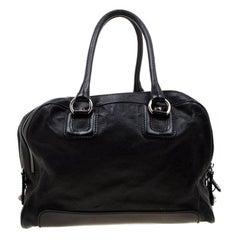 D&G Black Leather Lily Satchel