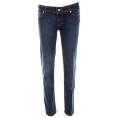 D&G Blue Denim Low Rise Regular Fit Jeans L