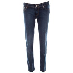 D&G Blue Denim Low Rise Regular Fit Jeans L