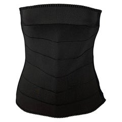 D&G by DOLCE & GABBANA Size 4 Black Polyamide Bustier Dress Top