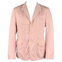 D&G by DOLCE & GABBANA Size 42 Rose Stripe Cotton Notch Lapel Sport Coat