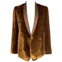 D&G by DOLCE & GABBANA Size 46 Copper Velvet Shawl Collar Dinner Jacket Sport Co