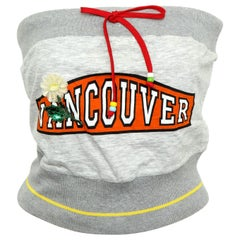 "D&G Dolce & Gabbana Tube Top with ""VANCOUVER"" Logo"