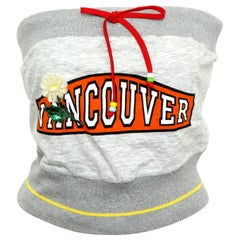 """D&G Dolce & Gabbana Tube Top with """"VANCOUVER"""" Logo"""