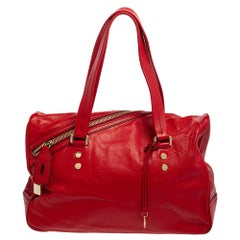 D&G Red Leather Katri Satchel