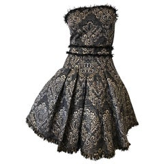 D&G Strapless Mini Ball Gown with Full Corset & Petticoats by Dolce & Gabbana