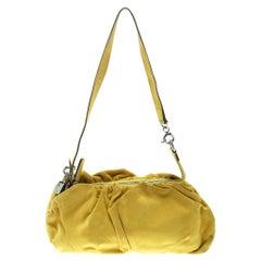 D&G Yellow Suede Regina Shoulder Bag
