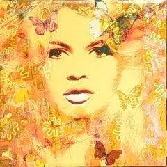 Bardot Butterfly, Mixed Media