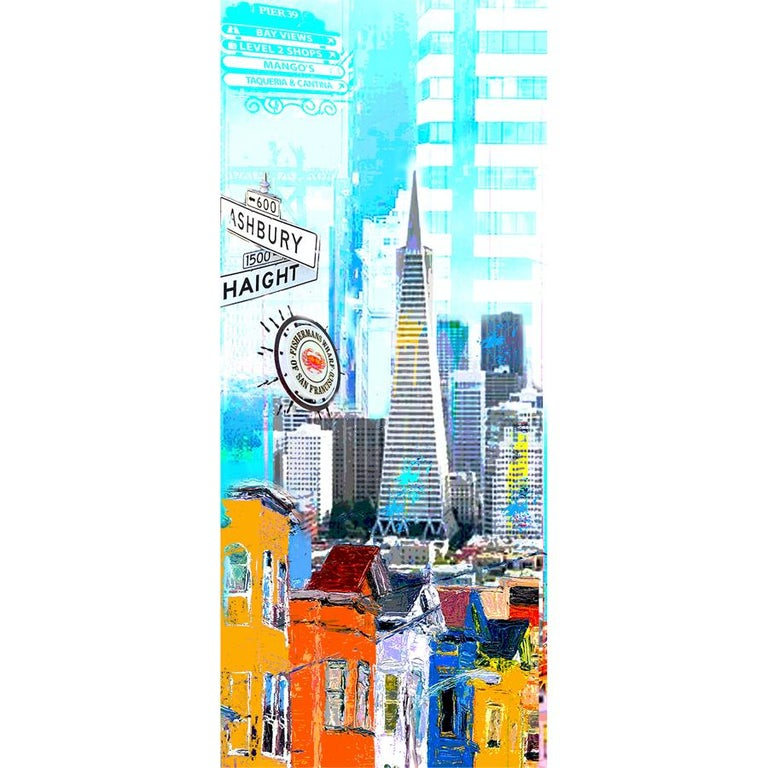 I Love San Francisco - Contemporary Mixed Media Art by Dganit Blechner