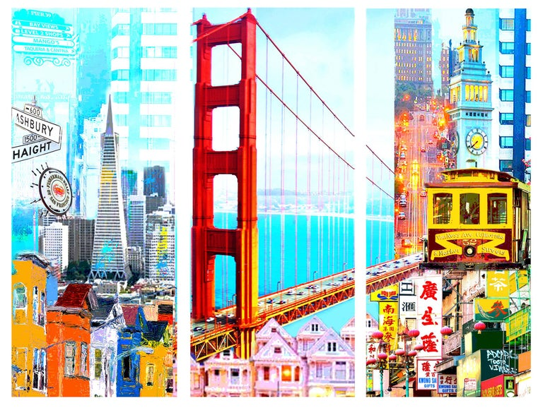 I Love San Francisco - Mixed Media Art by Dganit Blechner