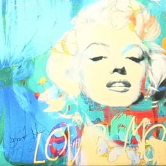 Marilyn Butterfly Blue, Mixed Media