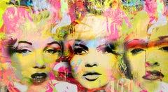Tre Grazia - Marilyn, Madonna and Brigitte Bardot, Mixed Media