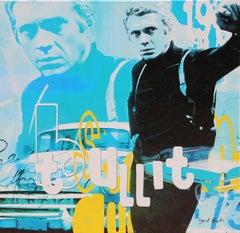 """""""Steve McQueen - Bullit"""" Screenprint on Canvas by Dganit Blechner"""