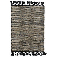 Dhurrie Flat-Weave Kilim Rug with Modern Lake House Style, Custom Area Rug