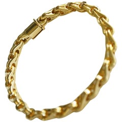Di Modolo 18 Karat Yellow Gold Italian Elegant Link Bracelet Milano