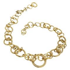 Di Modolo Diamond Yellow Gold Tempia Necklace