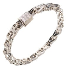 Di Modolo Men's Diamond Gold Large Link Bracelet
