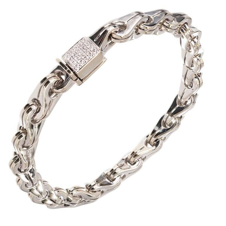 Di Modolo Men S Diamond Gold Large Link Bracelet For Sale
