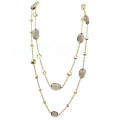 Di Modolo Triadora 18 Karat Yellow Gold Topaz Link Necklace