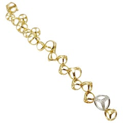 Di Modolo Triadra Diamond 18 Karat Yellow and White Gold Bracelet