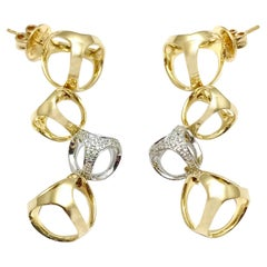 Di Modolo Triadra Diamond 18 Karat Yellow and White Gold Earrings