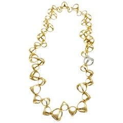 Di Modolo Triadra Diamond 18 Karat Yellow and White Gold Necklace