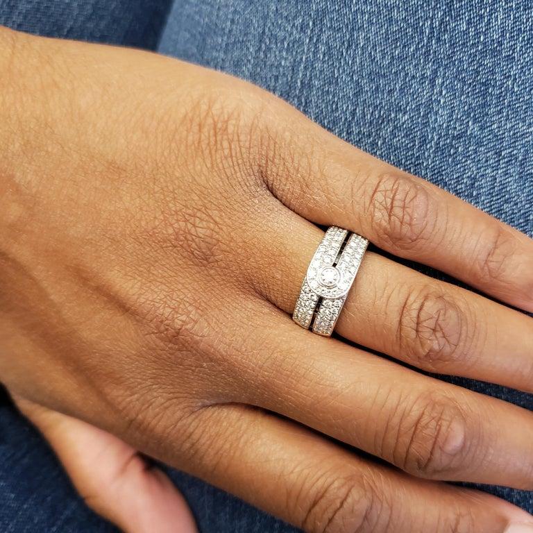 Women's or Men's Di Modolo White Gold and Diamond Ring For Sale