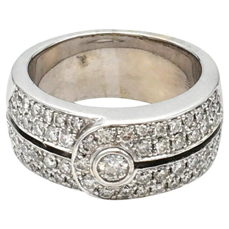 Di Modolo White Gold and Diamond Ring For Sale