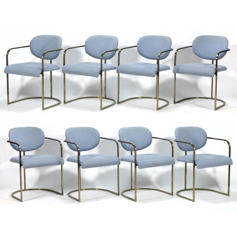 Late 20th Century DIA Set of Six-Chrome Framed Armchairs For Sale