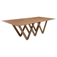 Diablo Dining Table in Teak and W-Shape Legs