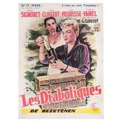 Diabolique 1955 Belgian Film Poster