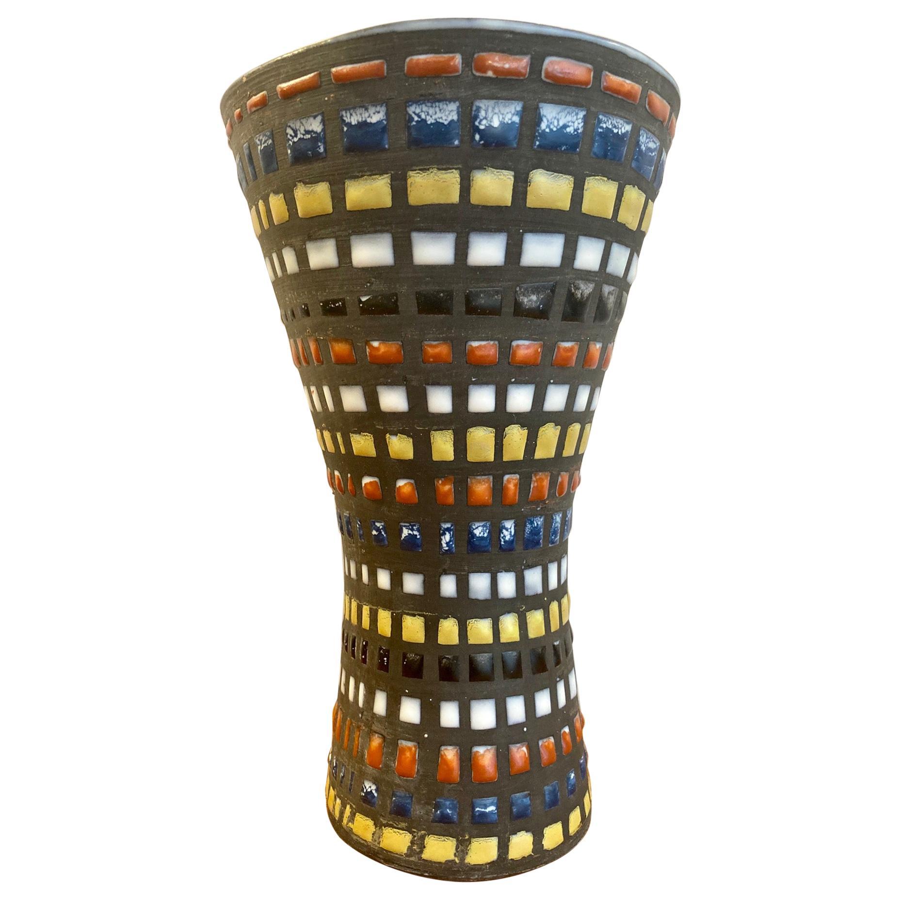 """Diabolo"" Ceramic Vase, by Roger Capron, Vallauris"