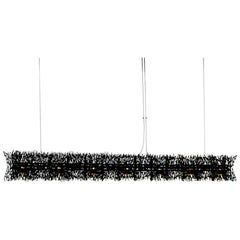 """Diadema 51"""" Linear Chandelier in Black Anodized Aluminum by David D'Imperio"""